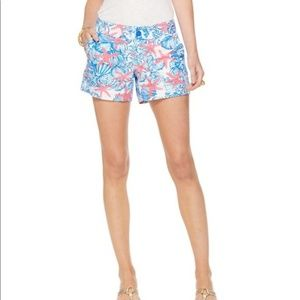 Lilly Pulitzer She She Shells Callahan Shorts Sz 6